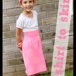 T-shirt to Skirt – the perfect summer playskirt!