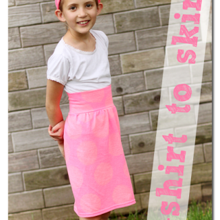 T-shirt to Skirt – the perfect summer playskirt!