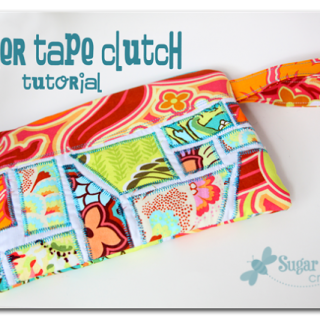 Ticker+tap+clutch+tutorial+zipper+pouch