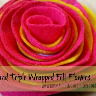 Wrapped+felt+flower