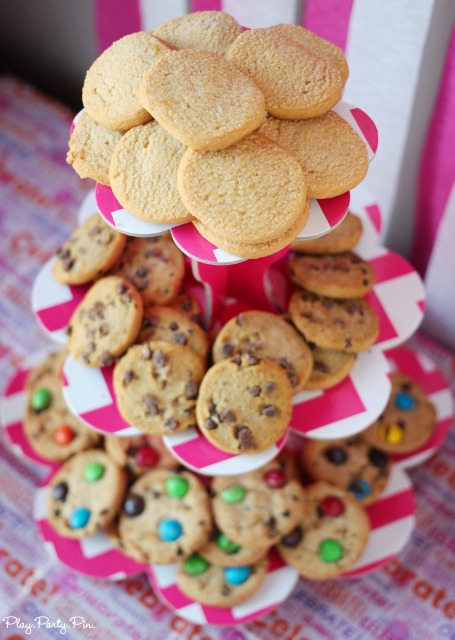 Ice Cream Cookie Sandwich Tower