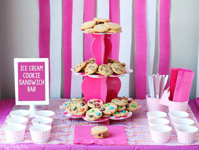 Ice cream cookie sandwich bar ideas