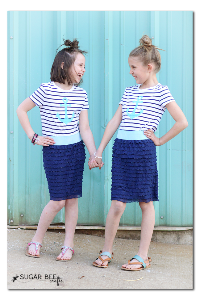 easy to sew ruffle skirt nautical how to