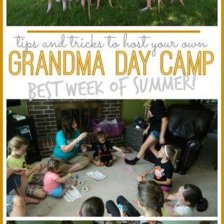 Grandma day camp tips and tricks
