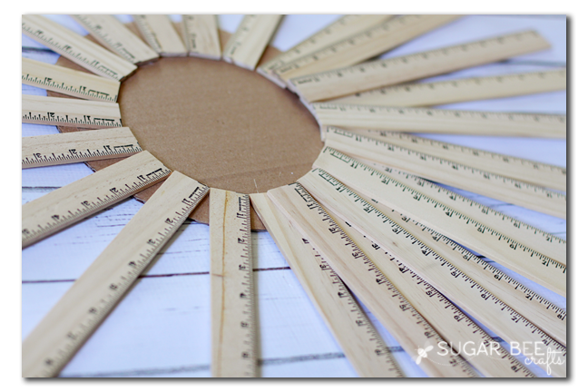 how to make a ruler burst wall hanging