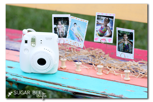 instax instant camera pics display