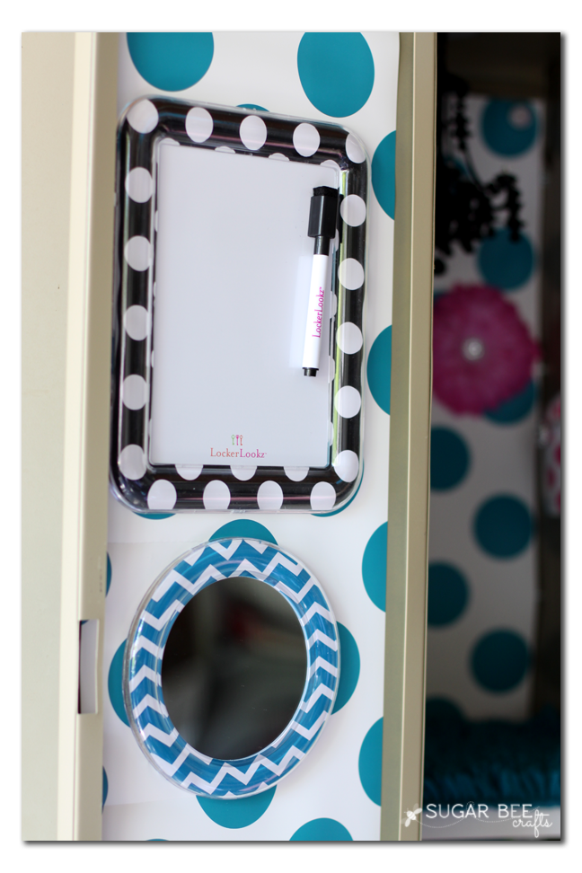 locker mirror white board