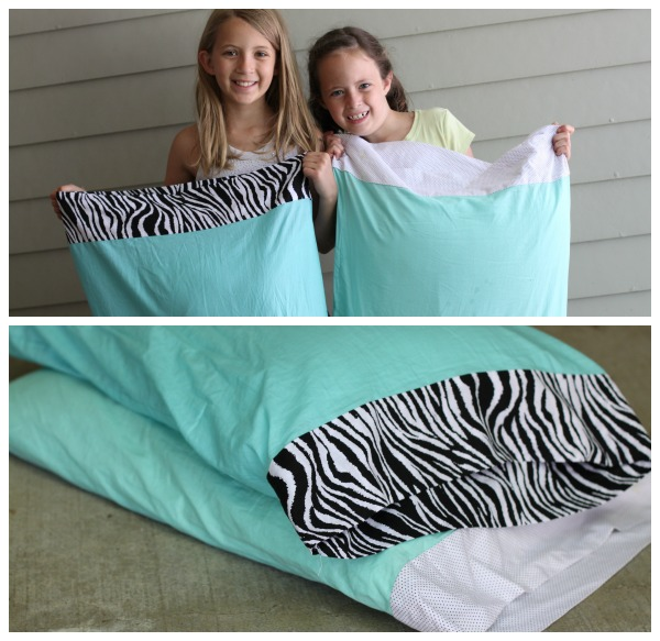 sewing camp pillowcases