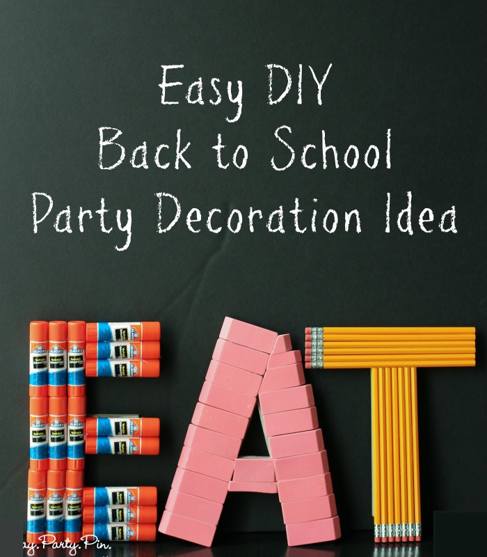 back to school party decoration idea play party pin