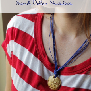 Diy polymer clay sandollar necklace