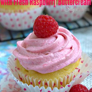 Almond Cupcakes with Fresh Raspberry Buttercream {Dessert Contributor}