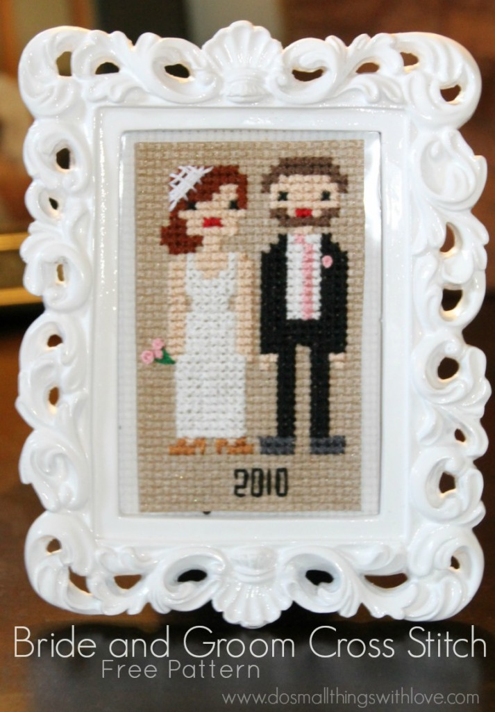 bride and groom cross stitch tutorial and pattern