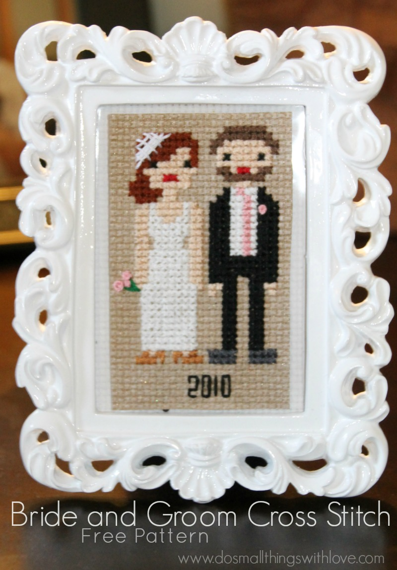 Bride And Groom Cross Stitch Sugar Bee Crafts
