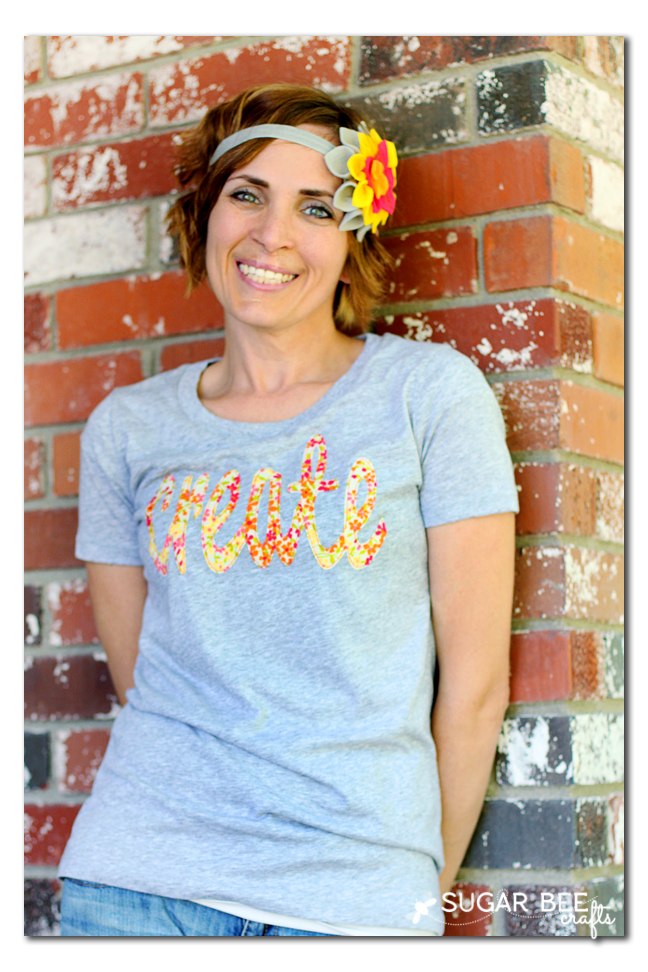 cricut fabric cut - create tshirt tee