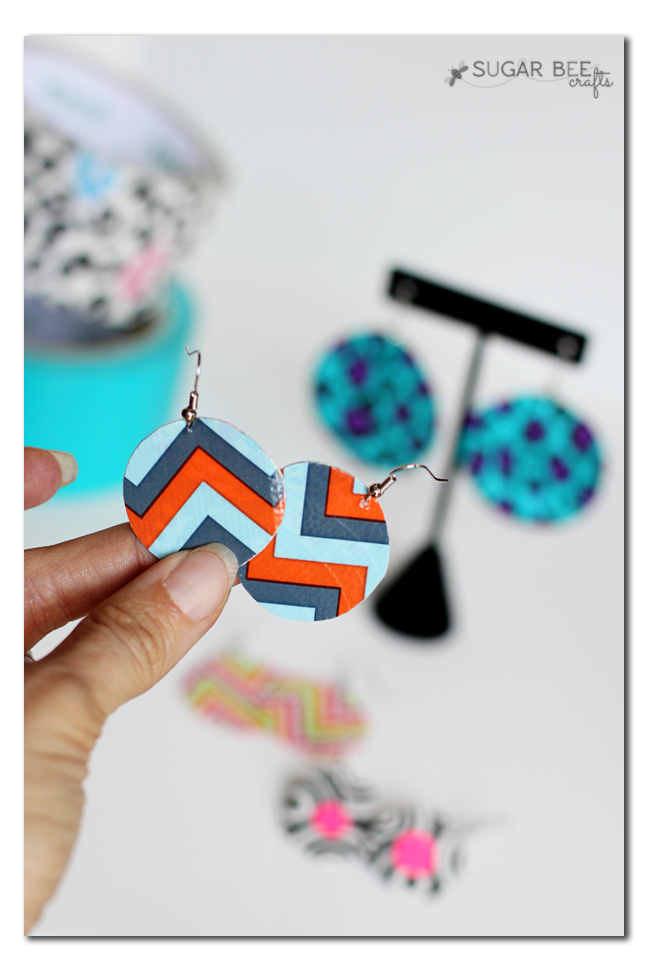 duck duct tape round earrings how to