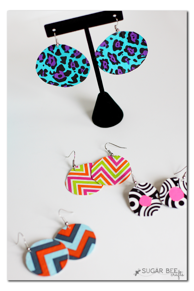 duct tape jewelry earring tutorial