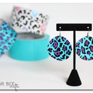easy duck duct tape earrings craft