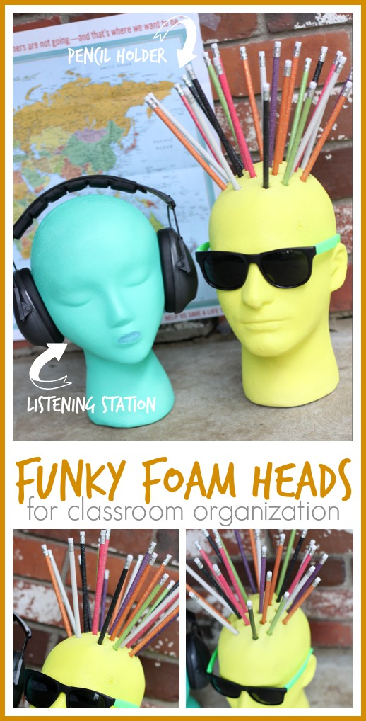 funky foam heads for the classroom