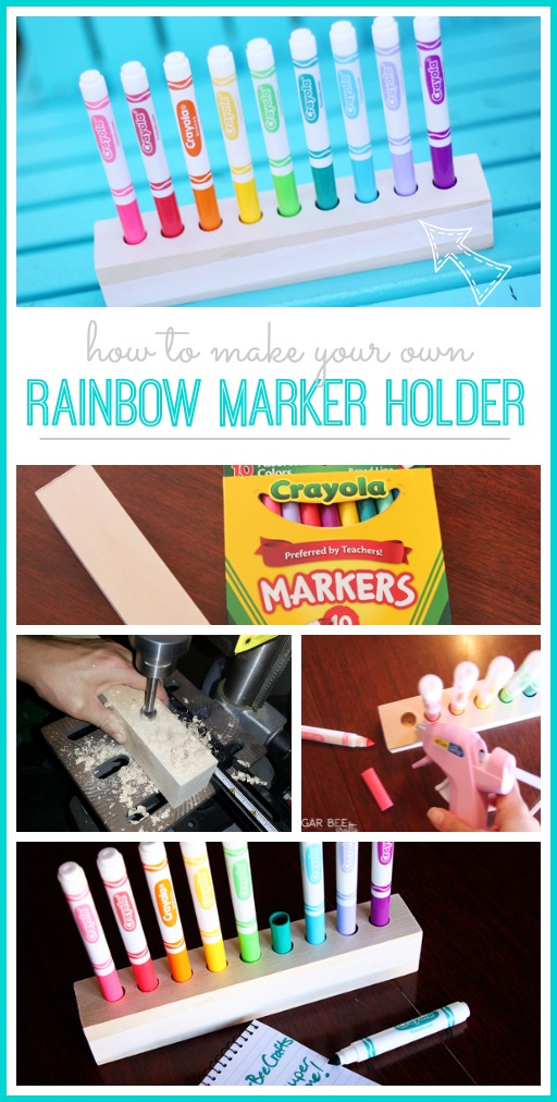 rainbow marker holder