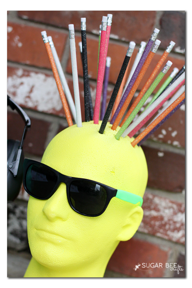 spike hair pencils