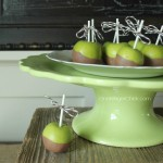 Decorative Painted Caramel Apples- Darling Fall Decor-OneKriegerChick.com
