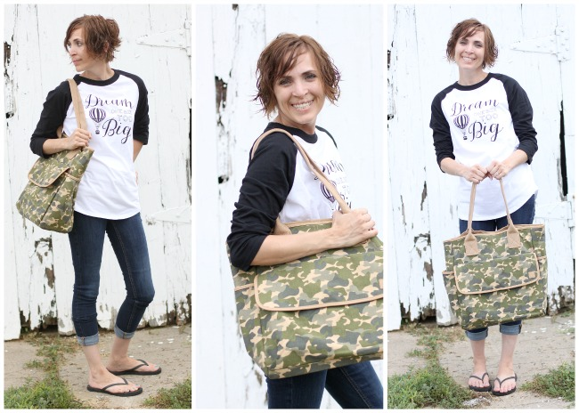 Joann Camo Cotton Canvas Tote