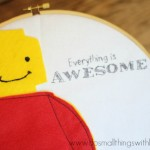 Lego Man Embroidery Hoop Art