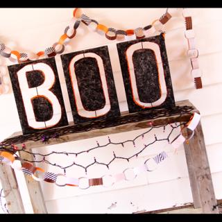 Boo styrofoam letters