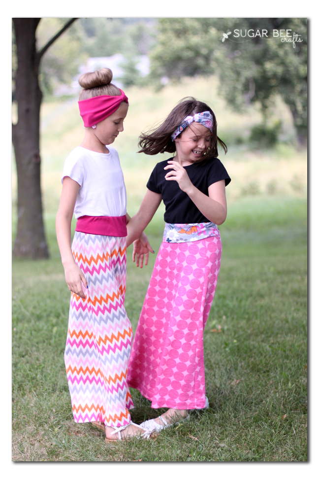 girls knit maxi skirt