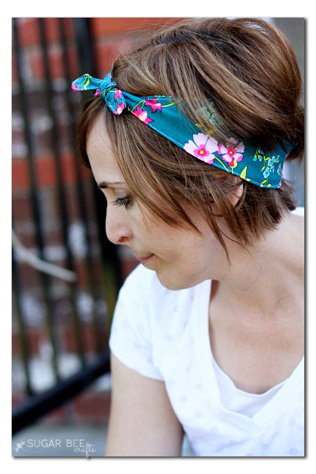 how to make a knot tie fabric headband