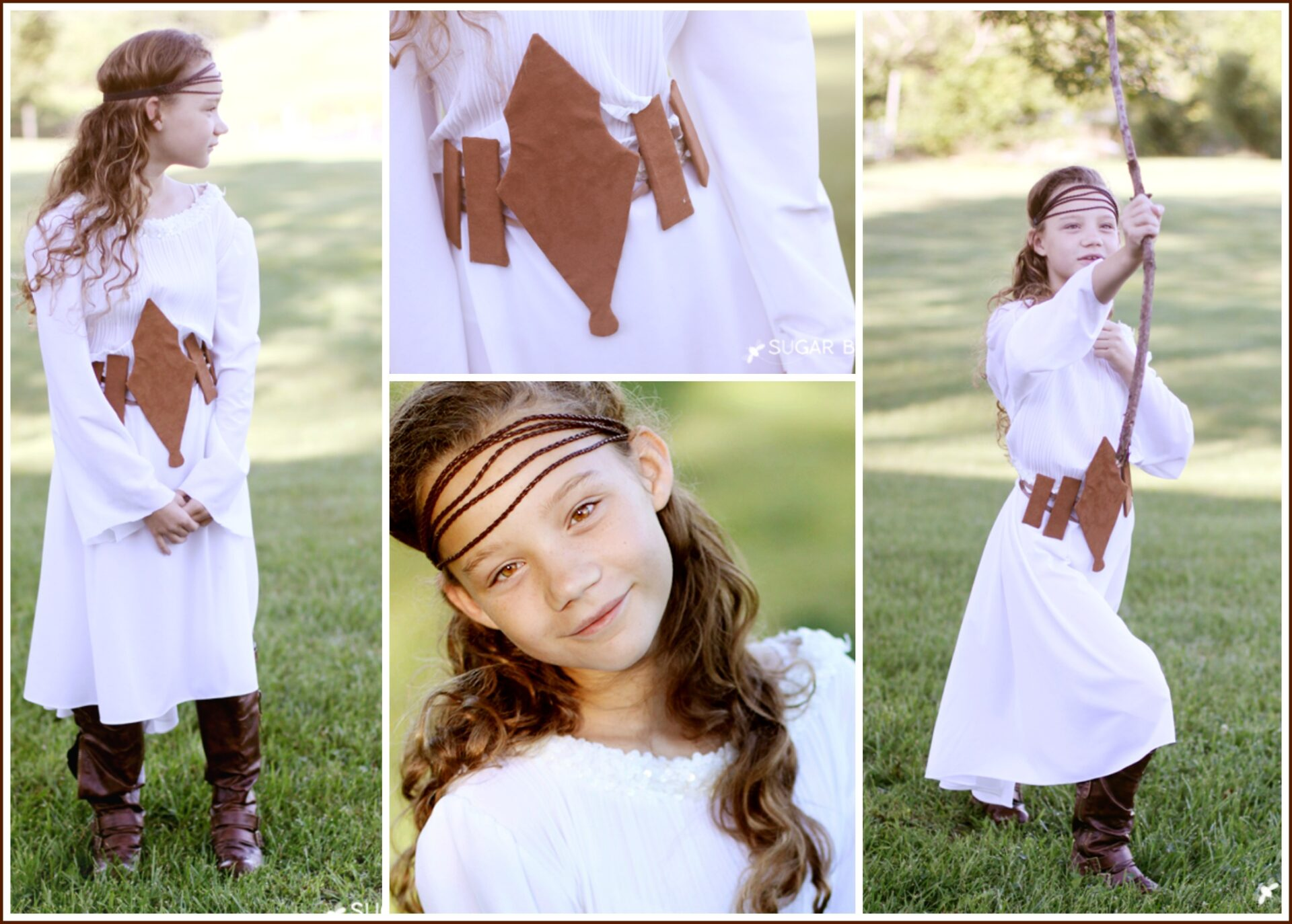 easy costume idea - renaissance girl - sugar bee crafts