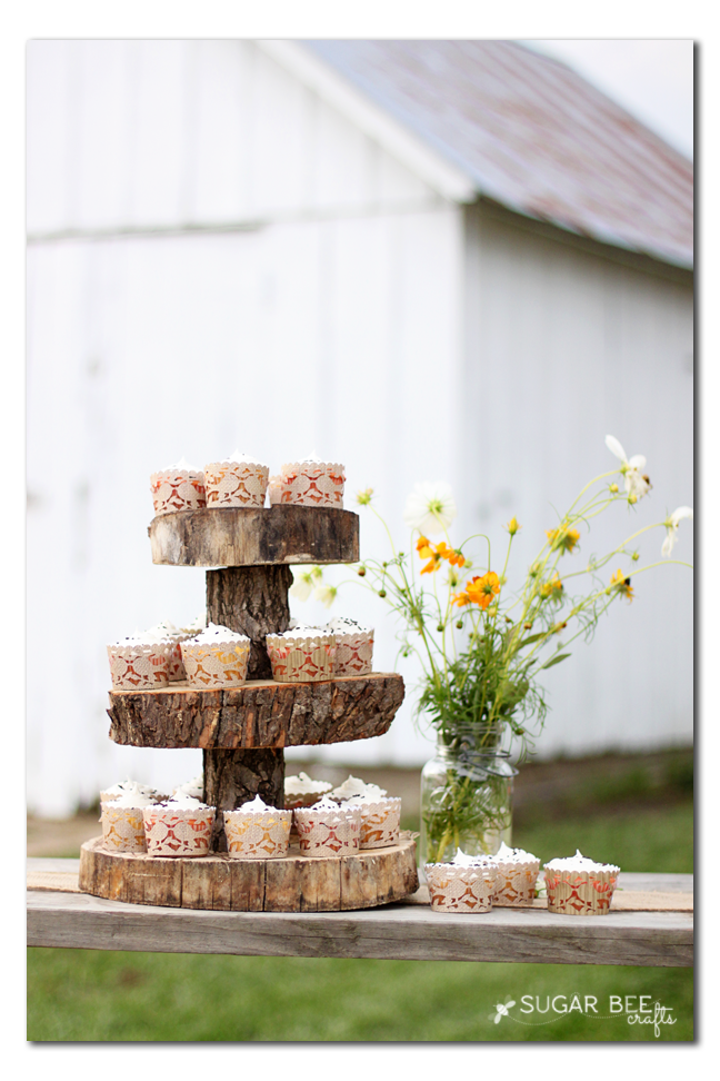 rustic party cupcakes