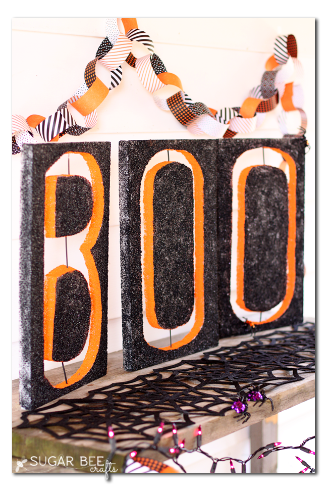use foam to make large letter cut outs