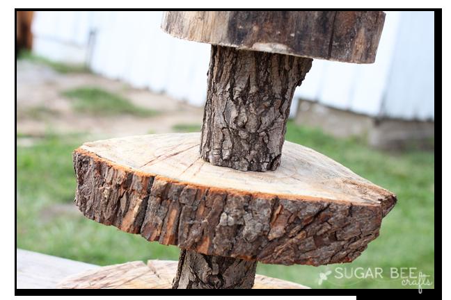 Rustic wood cupcake stand sugar bee crafts