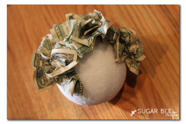 Money topiary gift idea sugar bee crafts for Money making crafts ideas