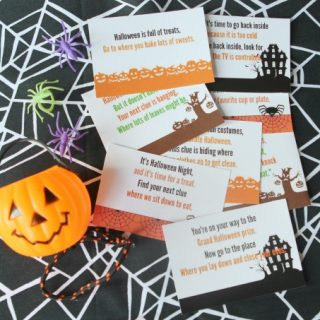 Printable halloween scavenger hunt idea horizontal