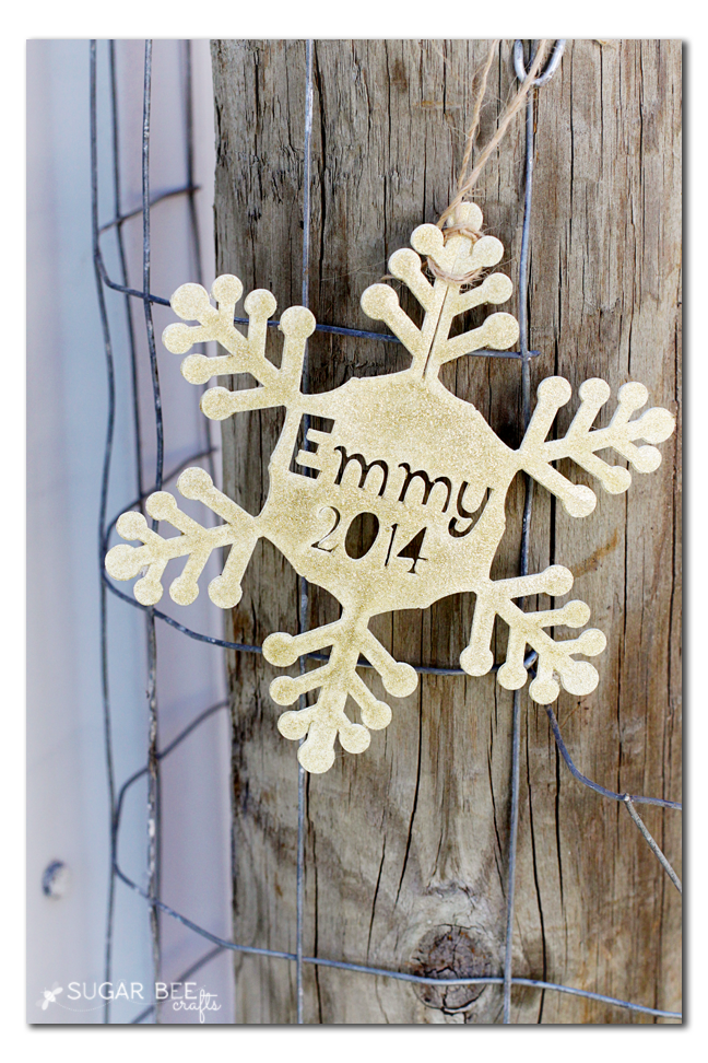 diy personalized snowflake ornament