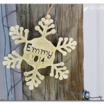 Personalized Snowflake Ornament