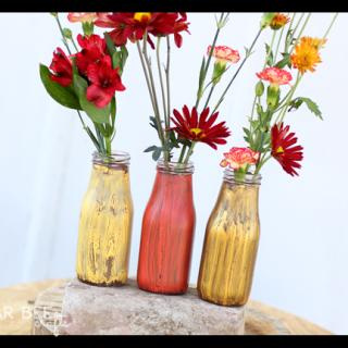 Elmers glue crackle jars