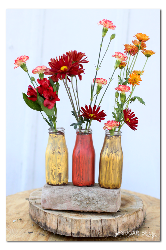 fall jars with flowers diy craft