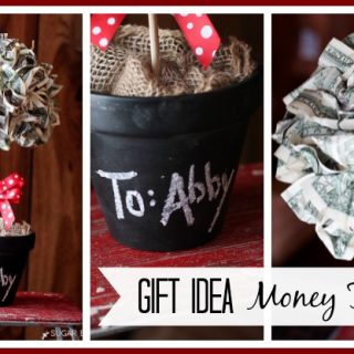 Gift idea money topiary