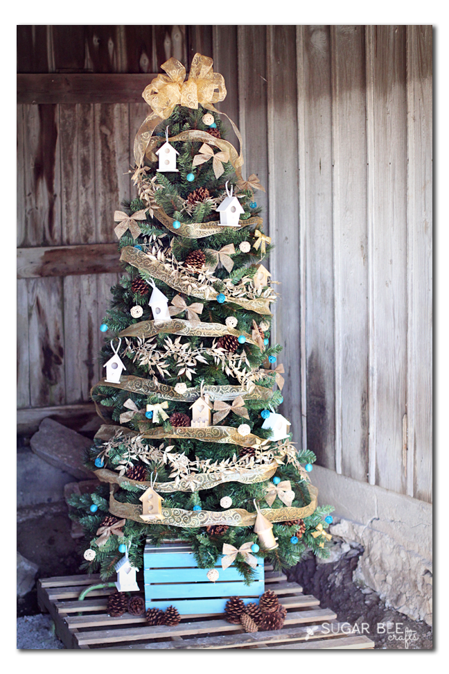 home tweet home themed Christmas tree diy idea