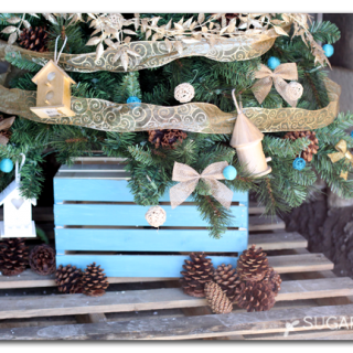 Home tweet home themed christmas tree idea