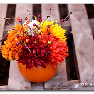 How to make a pumpkin flower arrangement
