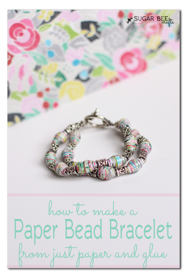 make a paper bead magazine bracelet
