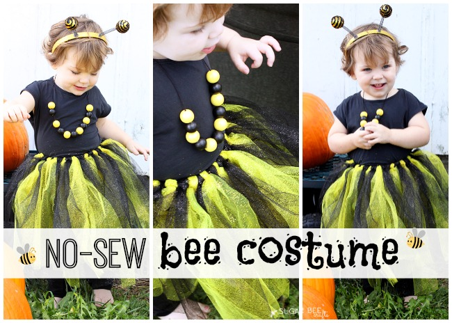 No sew bee costume great for last minute sugar bee crafts no sew bee costume tutorial how to solutioingenieria Images