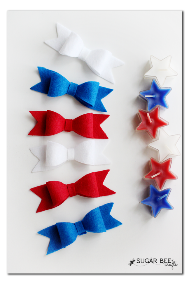 red white blue hairbows tutorial