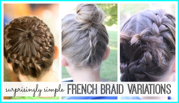 simple french braid variations