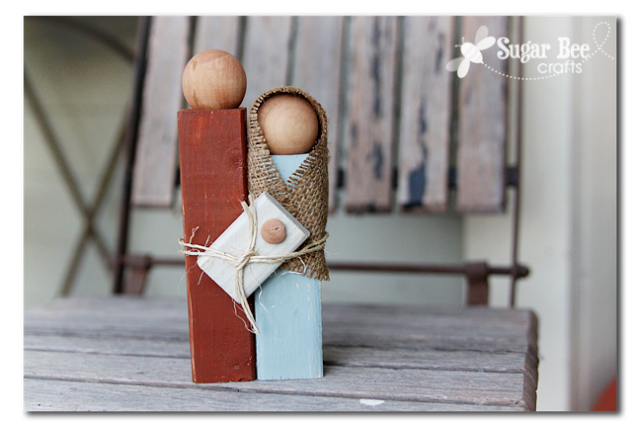 wooden nativity silhouette 2