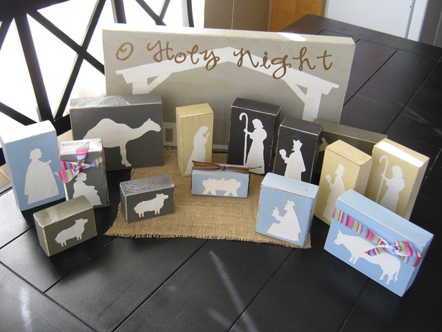 Nativity diy wood blocks